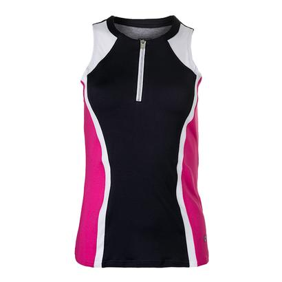 Women`s Daniela Tennis Tank Graphite and White