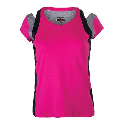 Women`s Daniela Cap Sleeve Tennis Top Fuchsia