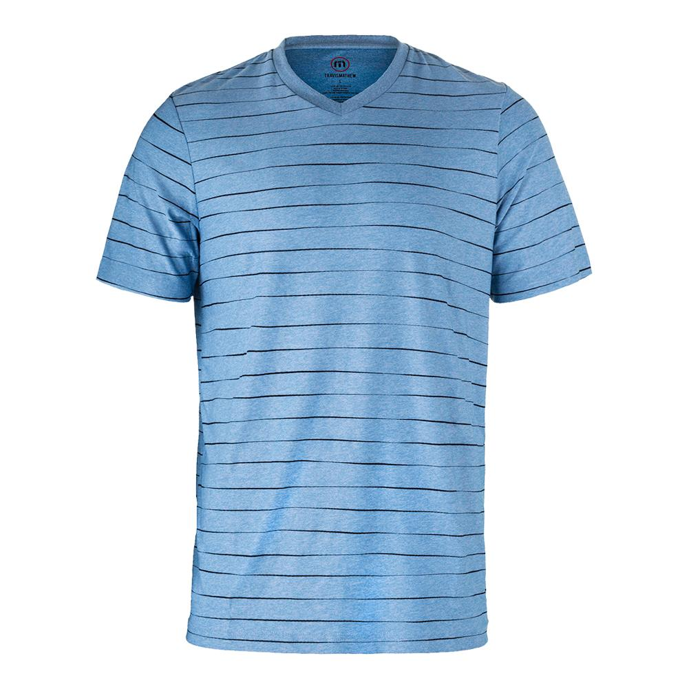 Men's Adair Tennis Crew Heather Sky Blue