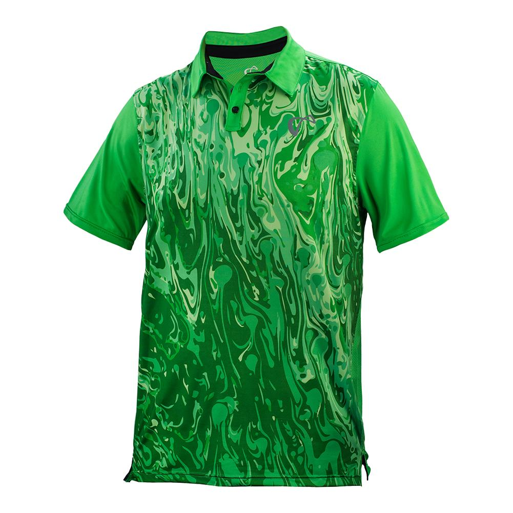 Boys ` Lava Mesh Back Tennis Polo Mint