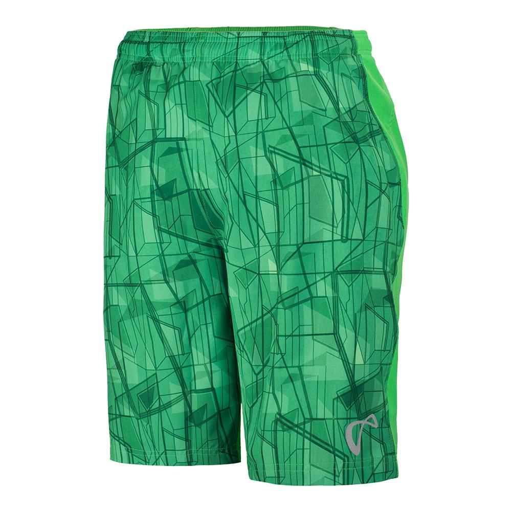 Boys ` Highrise Woven Tennis Short Mint