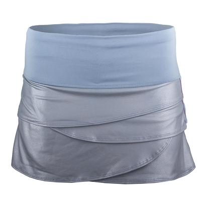 Women`s Metal Twist Scallop Tennis Skort Bluemist
