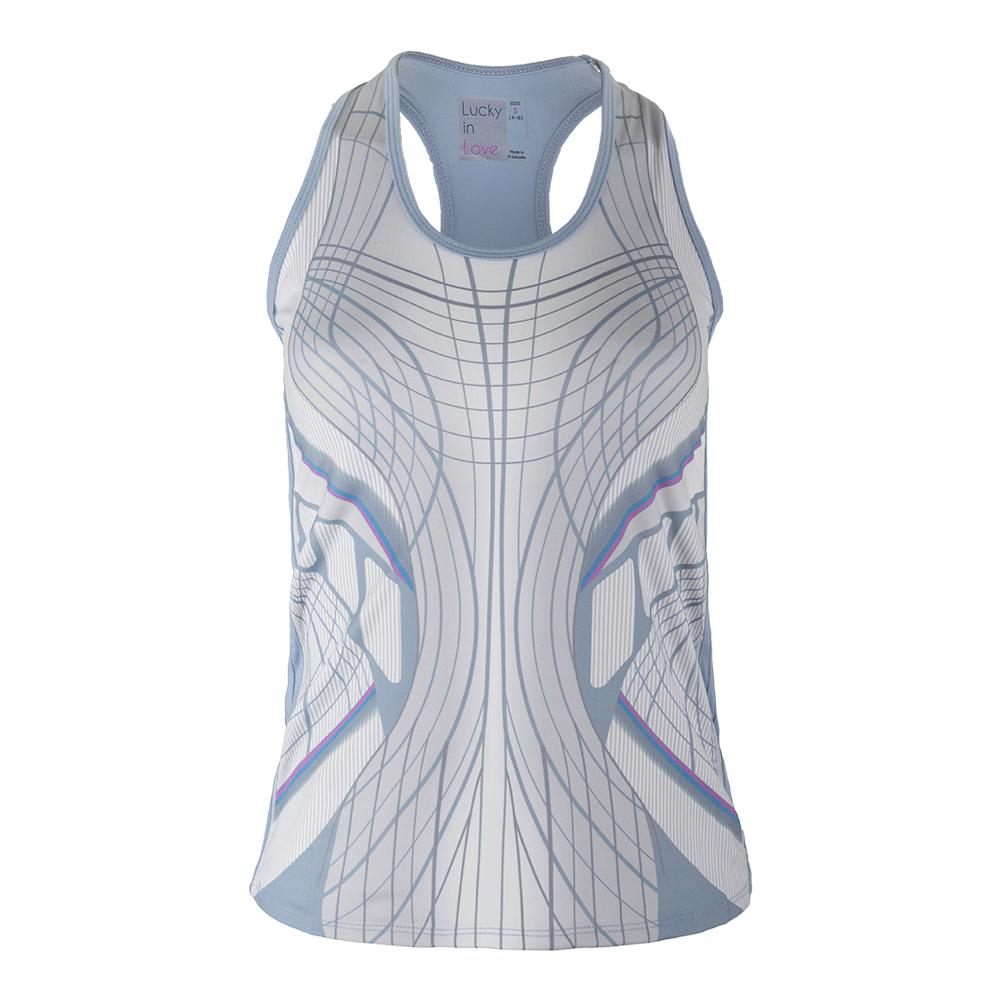 Women's Virtual Racerback Tennis Tank Print