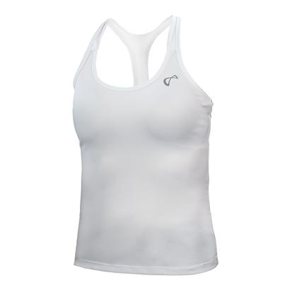 Girls` Racerback Tennis Tank White