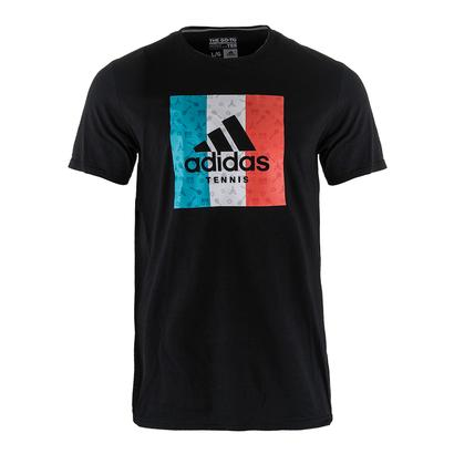 Men`s Box Paris Graphic Tennis Tee Black