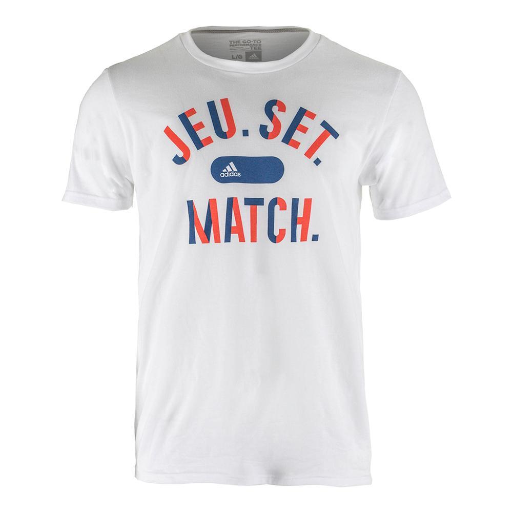 Men's Jeu Set Match Tennis Tee White