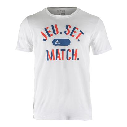 Men`s Jeu Set Match Tennis Tee White