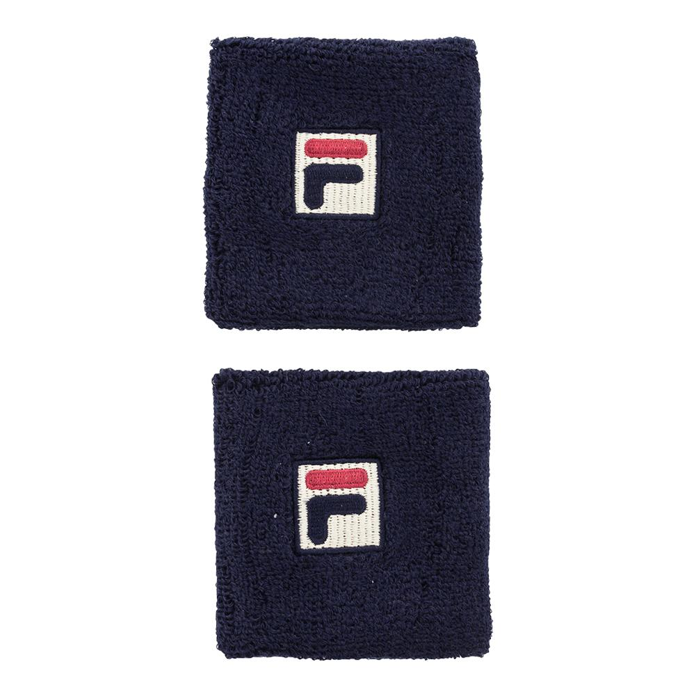 Solid Tennis Wristband Navy