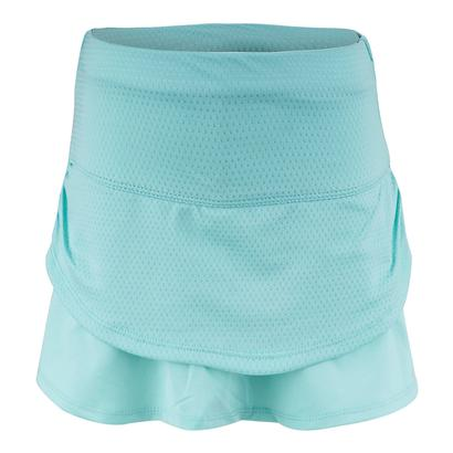 Girls` Pindot Ruched Tier Tennis Skort Lagoon
