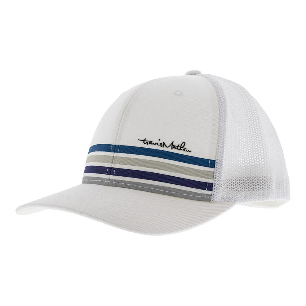 Men's Golden Tennis Cap White