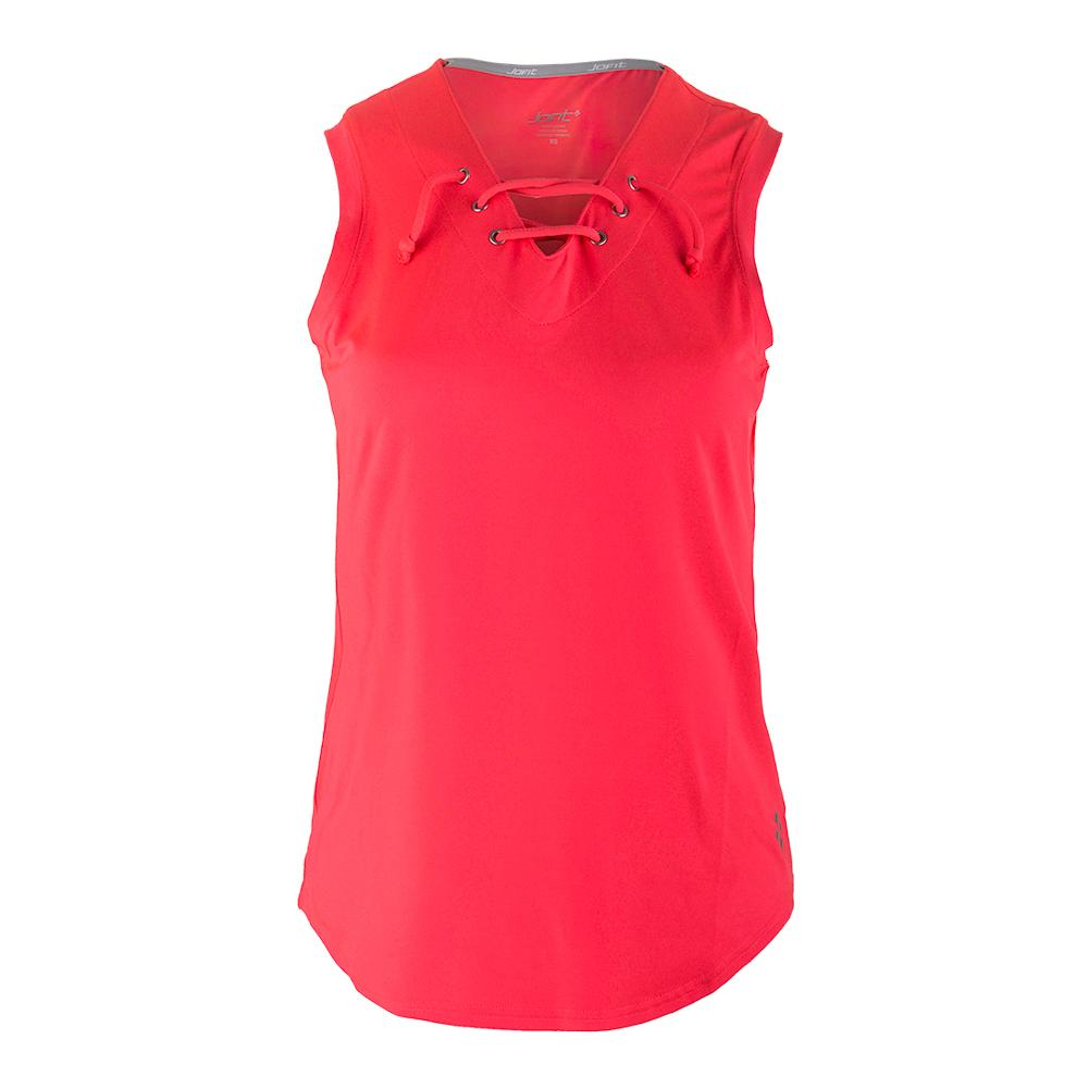 Women's Lace Up Tennis Tank Calypso