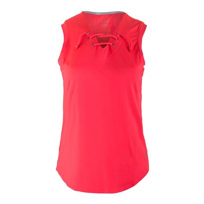 Women`s Lace Up Tennis Tank Calypso