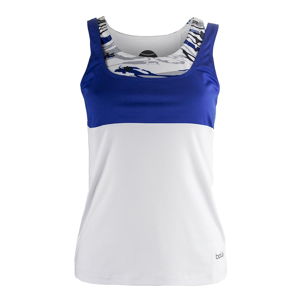 Women's Adrienne Tennis Tank White And Water