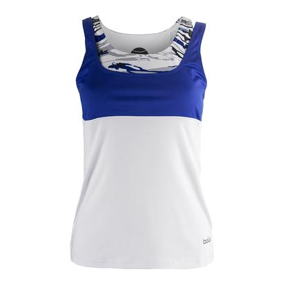 Women`s Adrienne Tennis Tank White and Water