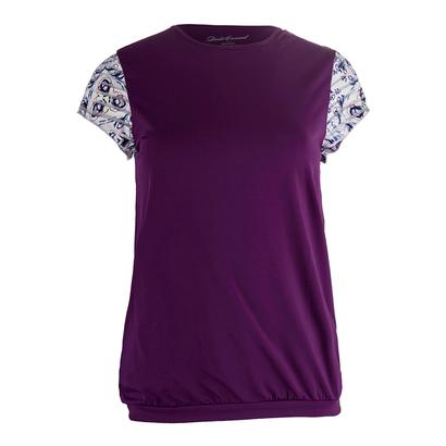 Women`s Mosaic Cap Sleeve Tennis Top Violet