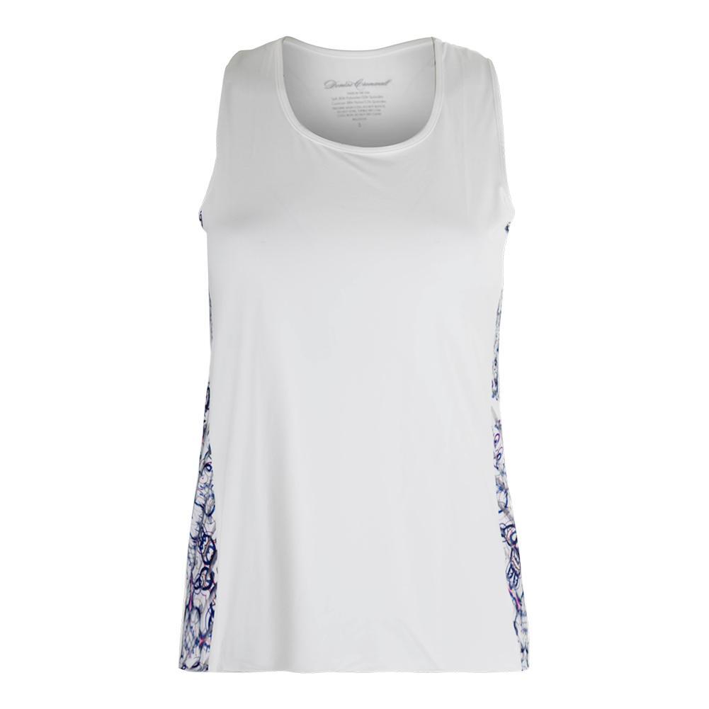Women's Mosaic Tennis Tank Top White
