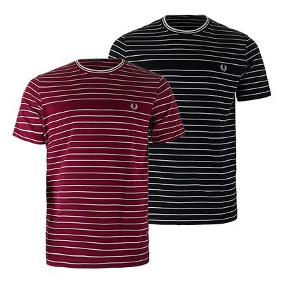 Men`s Pique Stripe Tennis Tee
