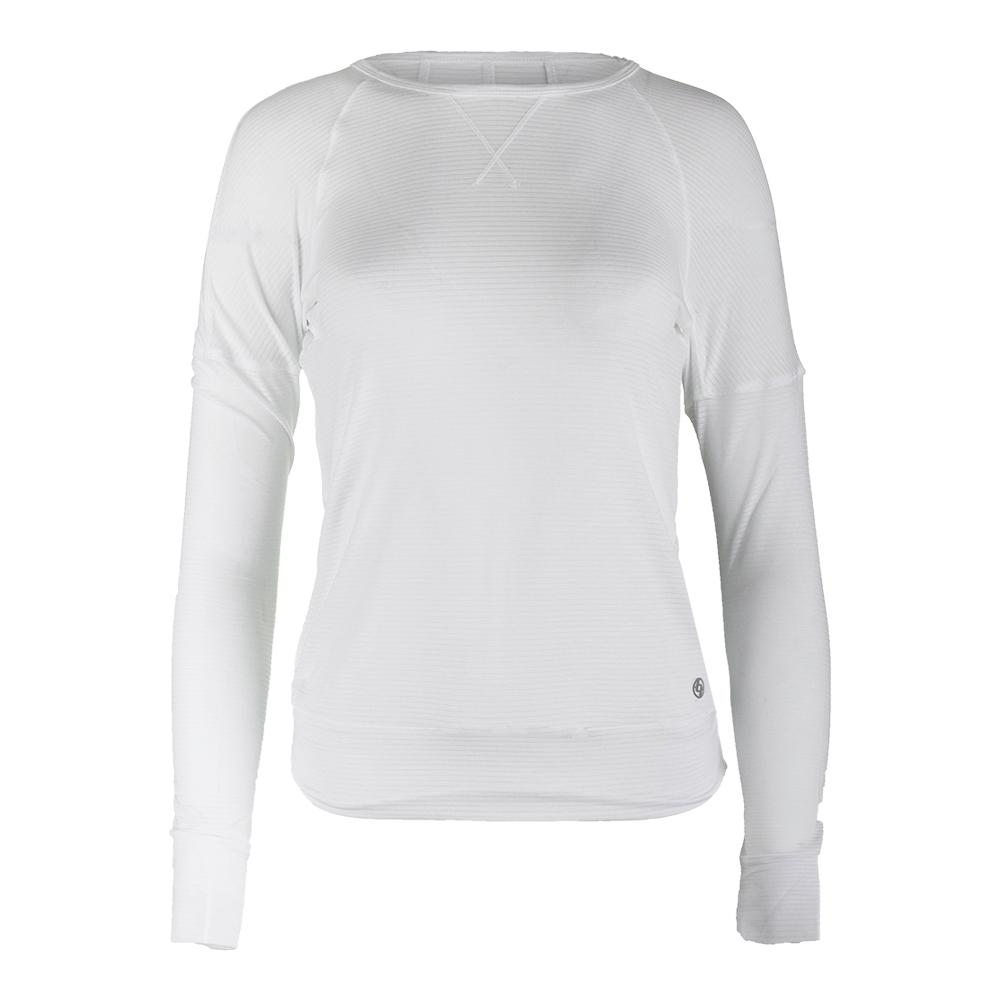 Women's Cool Down Long Sleeve Tennis Top White