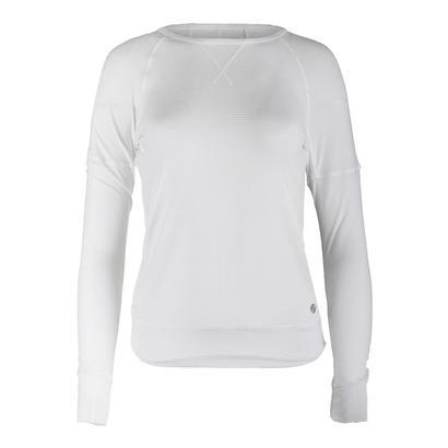 Women`s Cool Down Long Sleeve Tennis Top White