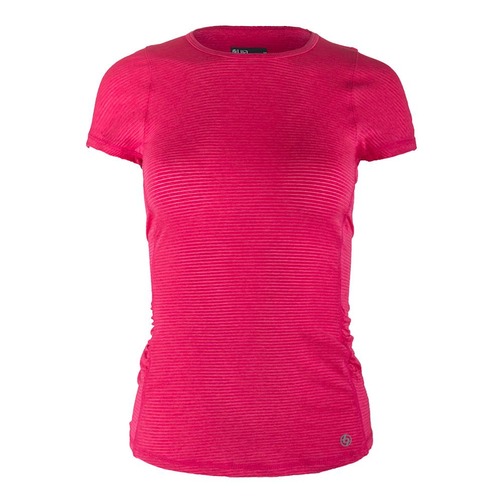 Women's Fluid Tennis Tee Rose
