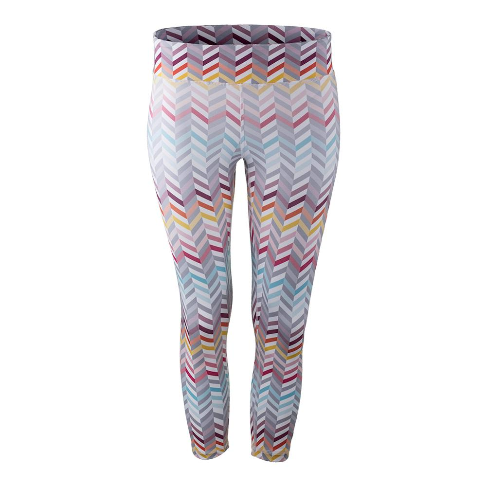 Women's No Fear Tennis Capri Zig Zag Print