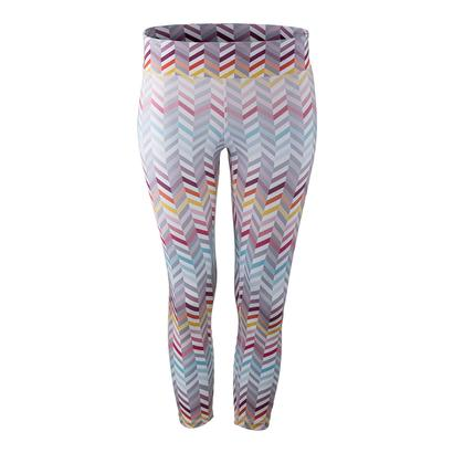 Women`s No Fear Tennis Capri Zig Zag Print