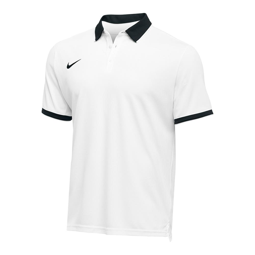Men's Team Dry Tennis Polo Black