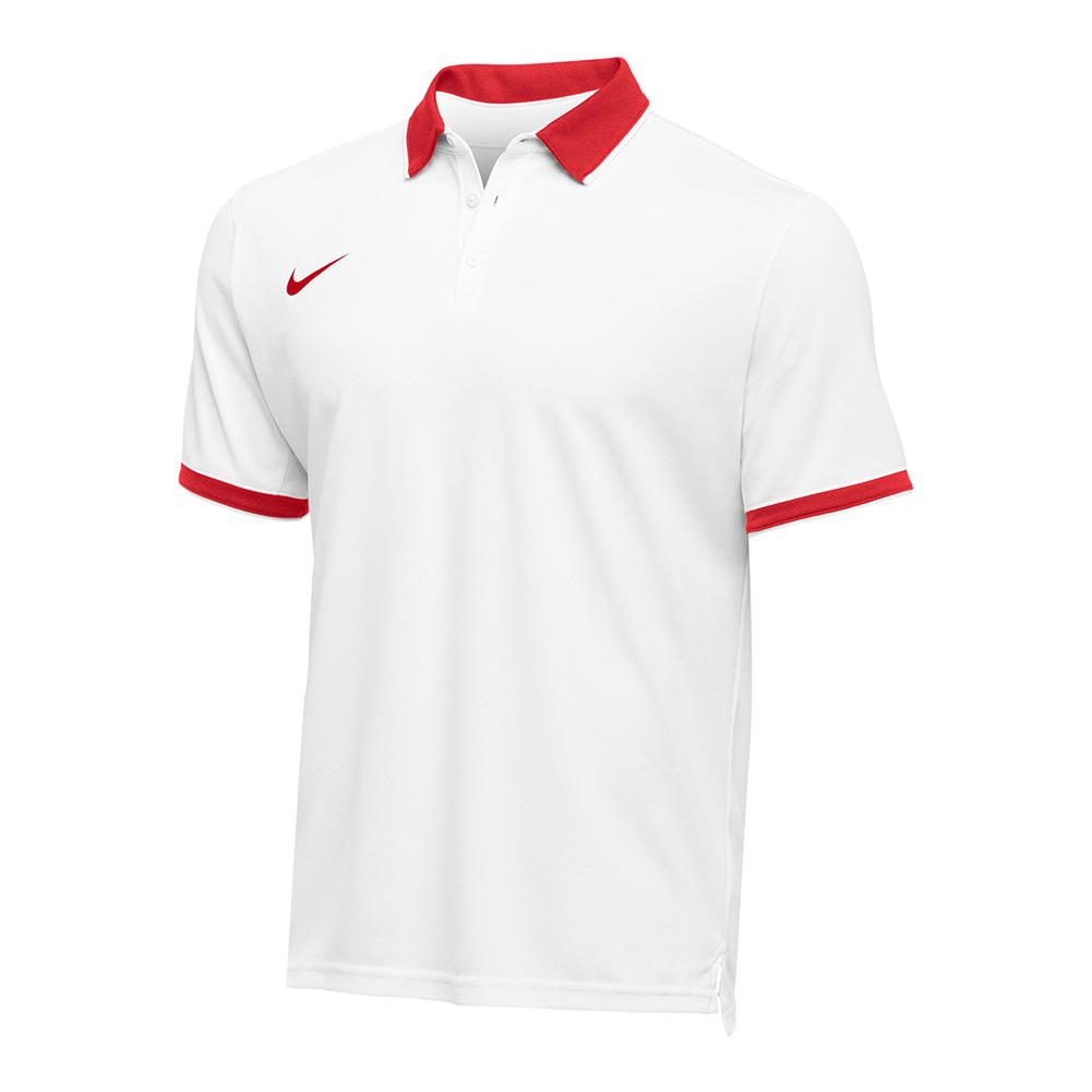 Men's Team Dry Tennis Polo Scarlet