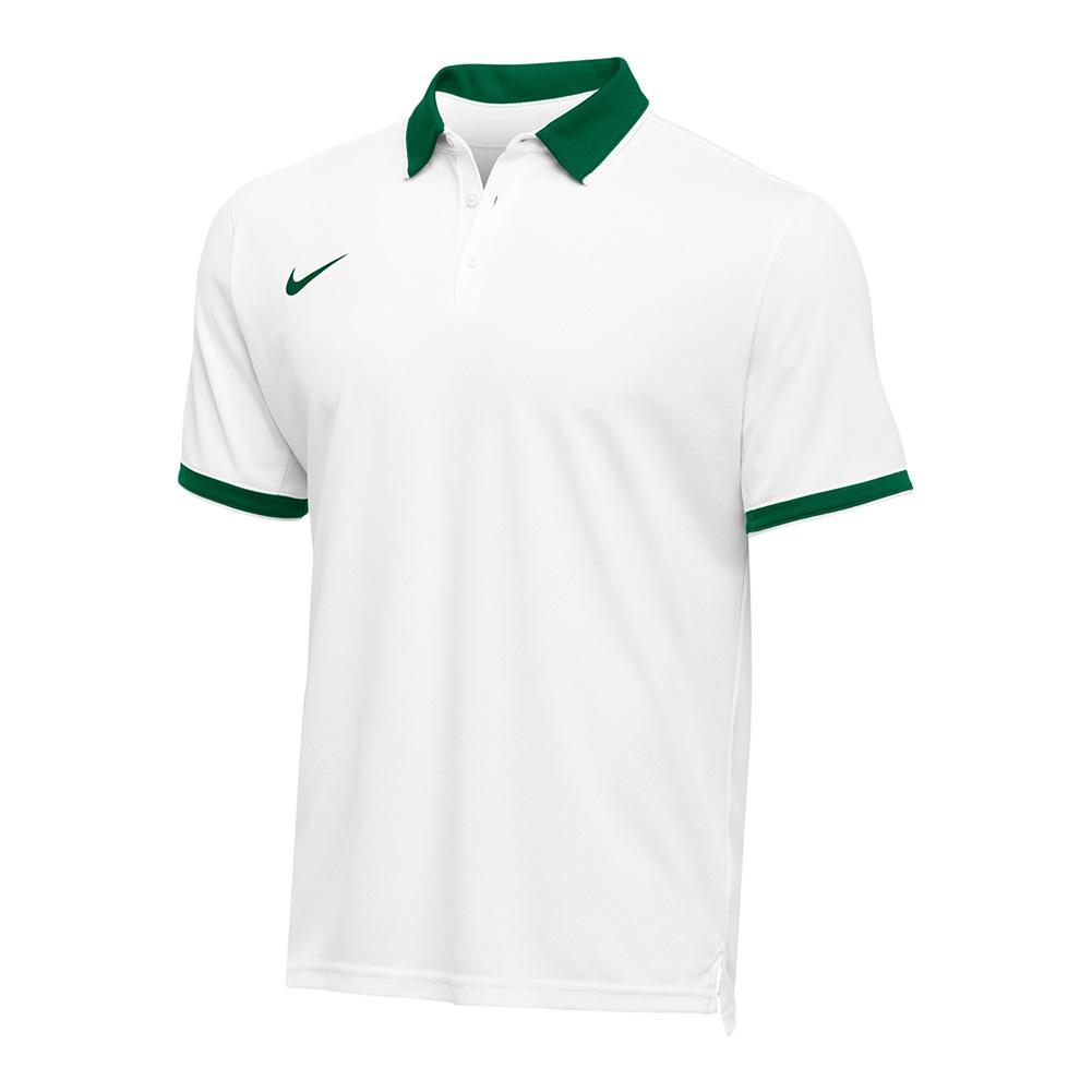 Men's Team Dry Tennis Polo Dark Green