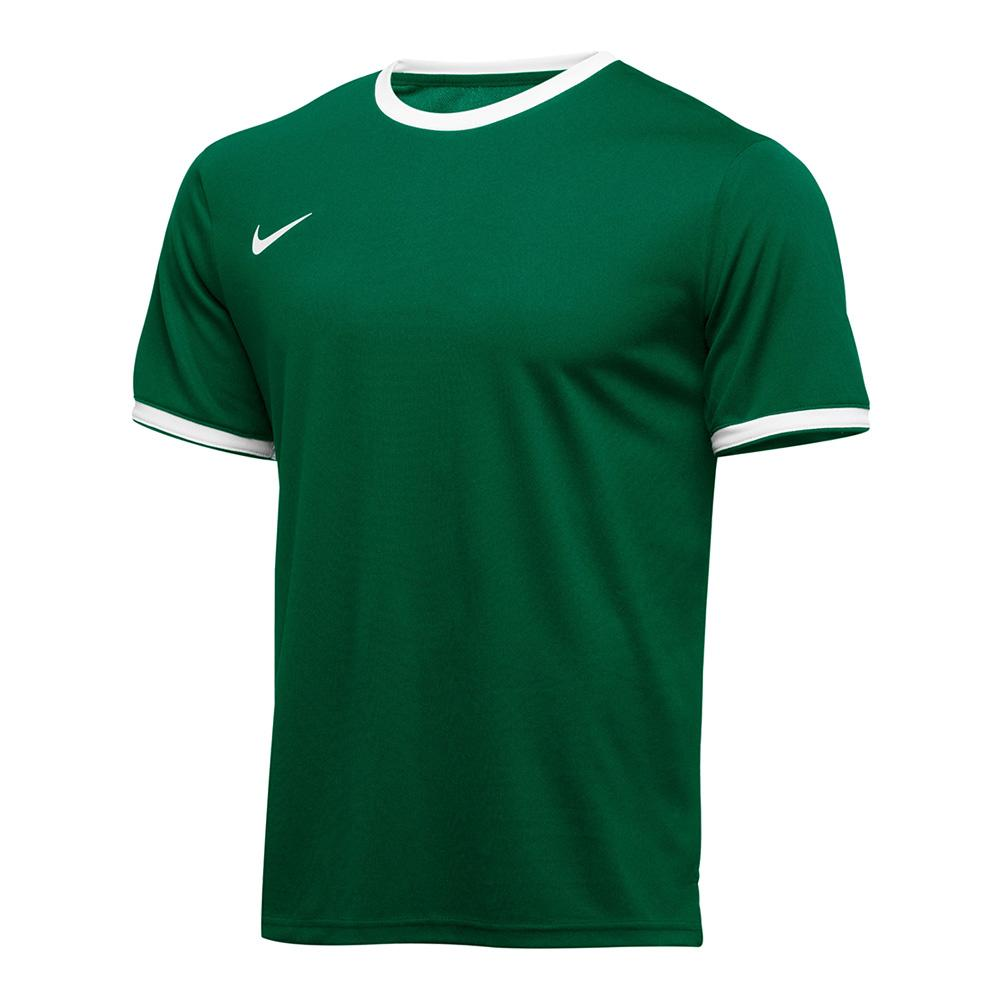 Men's Team Dry Tennis Top Dark Green