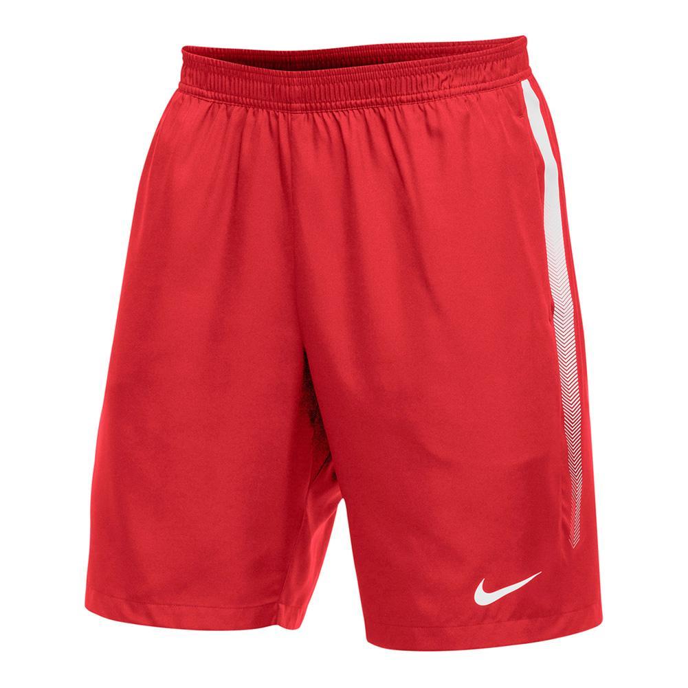 Men's Team Dry 9 Inch Tennis Short Scarlet