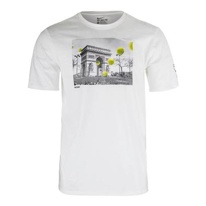 Men`s French Open Tennis Tee White