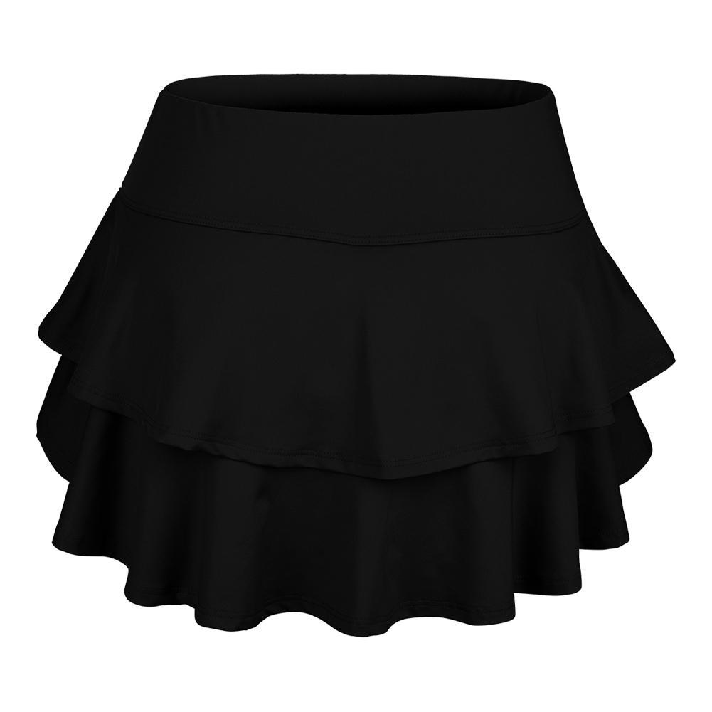 Women's Belle Flounce Tennis Skort Black
