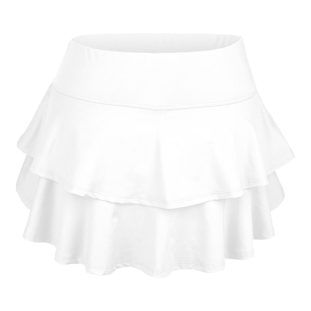Women's Belle Flounce Tennis Skort White