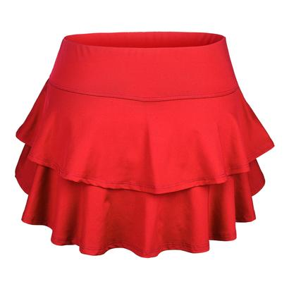 Women`s Belle Flounce Tennis Skort Red