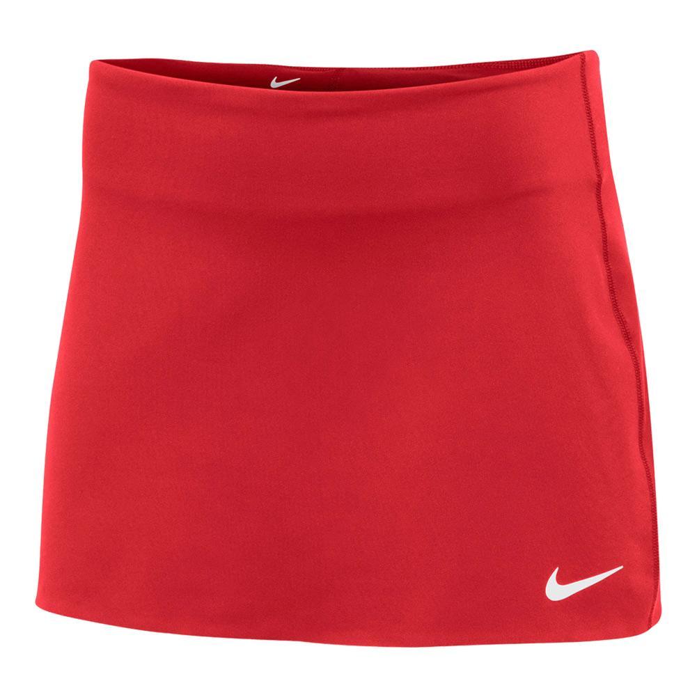 Women's Power Spin Tennis Skort Scarlet