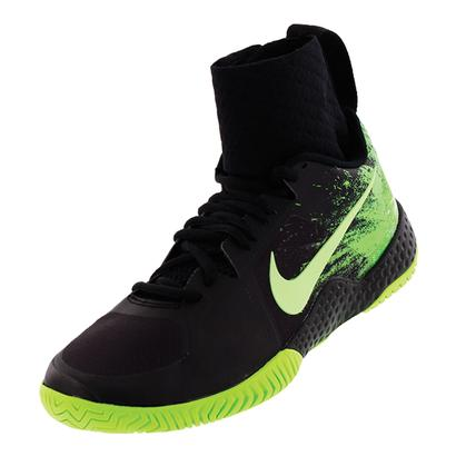 Women`s Flare Tennis Shoes Black and Ghost Green