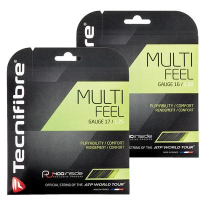 Multi-Feel Tennis String Black