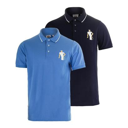 Men`s Stretch Pique Vintage Graphic Tennis Polo