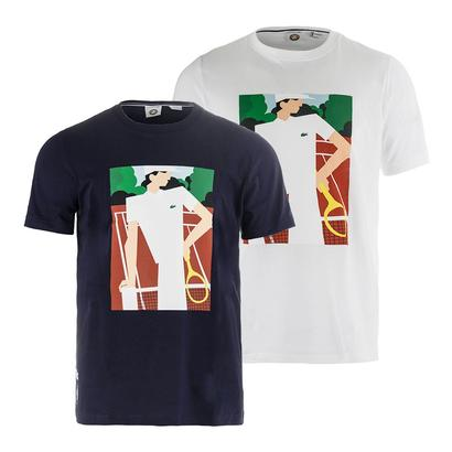Men`s Vintage Ad Graphic Tennis Tee