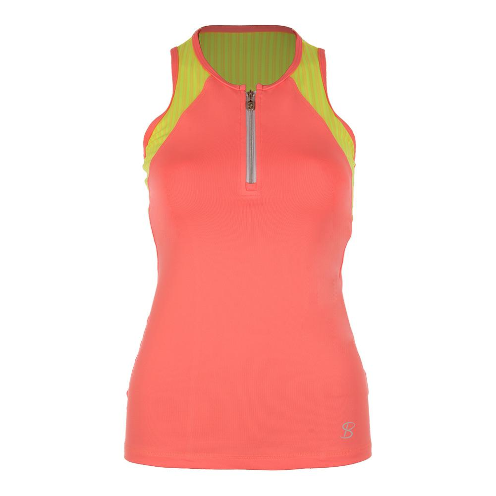 Women's Athletic Racerback Tennis Top Sorbet And Print