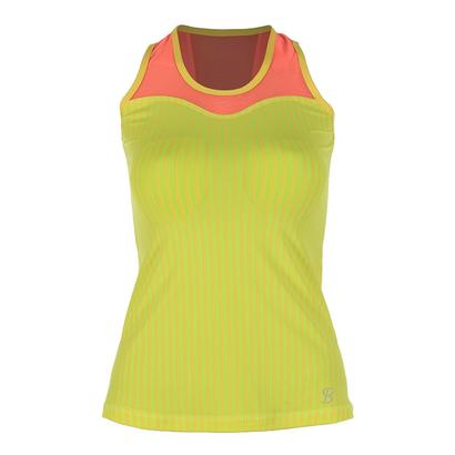 Women`s Full Back Athletic Tennis Tank Print and Sorbet