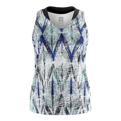Women`s Love Tennis Tank Diamond Print