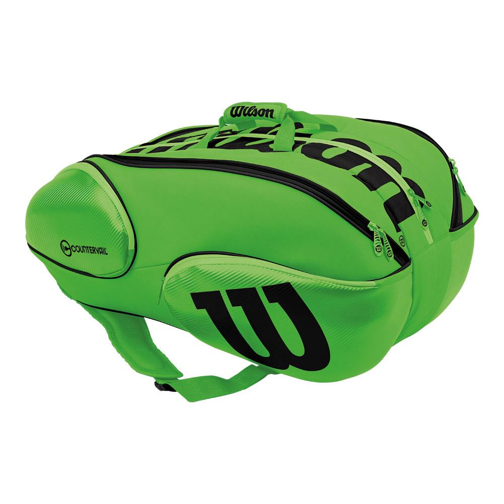 Blade 15 Pack Tennis Bag Green And Black