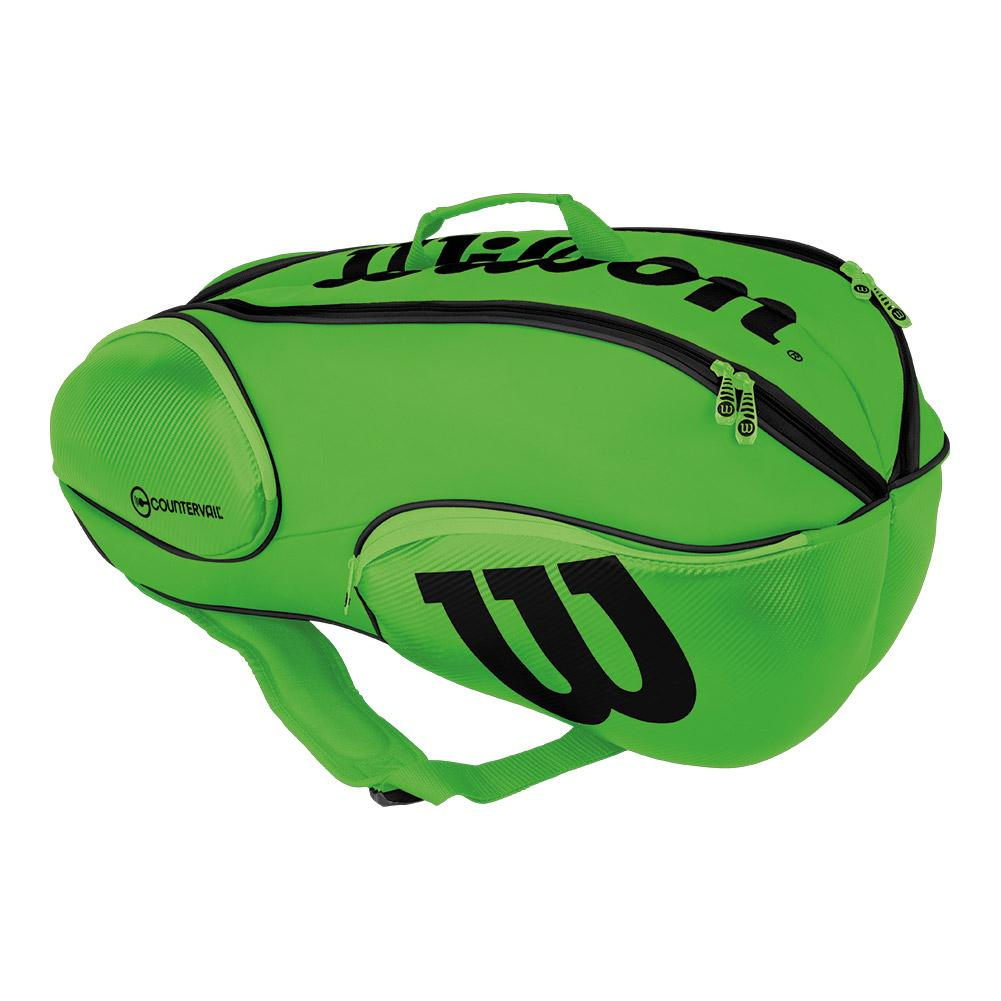 Blade 9 Pack Tennis Bag Green And Black