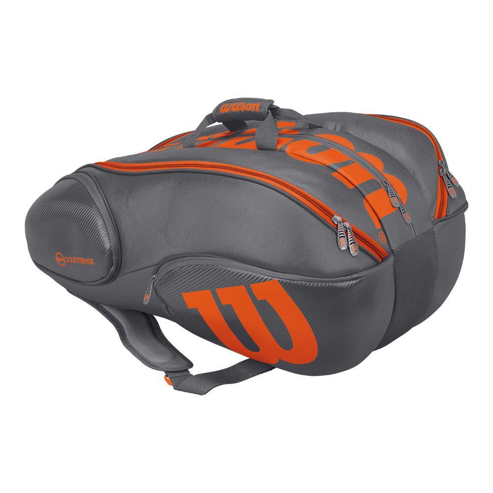 Burn 15 Pack Tennis Bag Gray And Orange