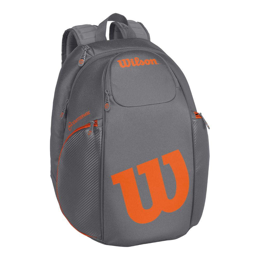 Burn Tennis Backpack Gray And Orange