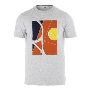 Men`s Tennis Racquet Graphic Tee