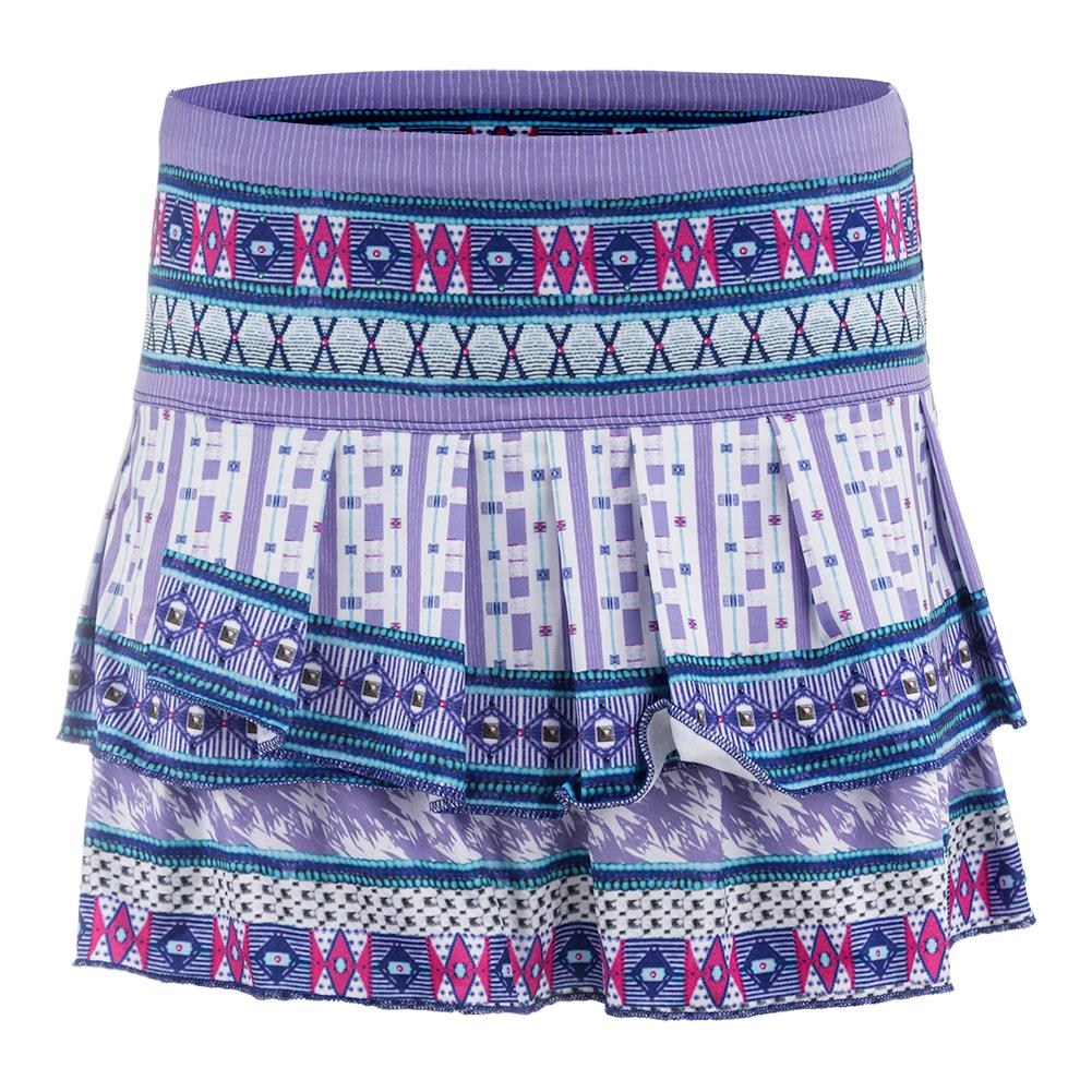 Women's Divine Pleat Tier Tennis Skort Print