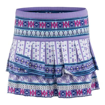 Women`s Divine Pleat Tier Tennis Skort Print